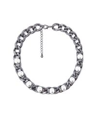 Forever 21 - Gray Pretty Tough Collar Necklace - Lyst
