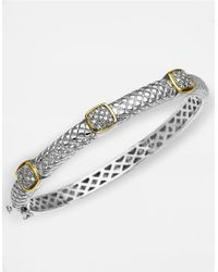 Lord & Taylor | Metallic 14k Gold And Sterling Silver Diamond Bracelet | Lyst