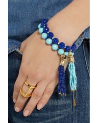 Rosantica - Blue Himalaya Set Of Two Agate and Turquoise Bracelets - Lyst