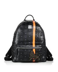 MCM | Black Munich Lion Backpack for Men | Lyst