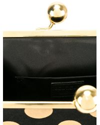 Boutique Moschino - Black Polka Dot Clutch - Lyst