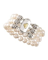 Lagos | Metallic Luna Pearl Bracelet | Lyst