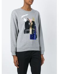 McQ   Gray Egyptian Collage Print Sweatshirt   Lyst