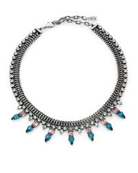 DANNIJO | Metallic Bianca Crystal Collar Necklace | Lyst