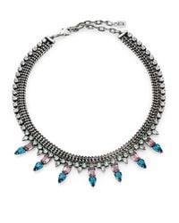 DANNIJO - Metallic Bianca Crystal Collar Necklace - Lyst