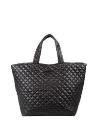 MZ Wallace | Black 'large Metro' Quilted Oxford Nylon Tote | Lyst