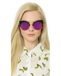 Gentle Monster - Alley Cat Sunglasses - Black/pink - Lyst