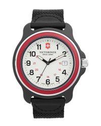 Victorinox - Black 'original' Extra Large Nylon Strap Watch for Men - Lyst