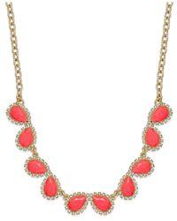 Kate Spade | Metallic Gold-tone Balloon Stone Mini Row Necklace | Lyst
