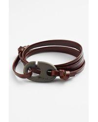 Miansai - Brown Brummel Hook Leather Bracelet - Brandy for Men - Lyst