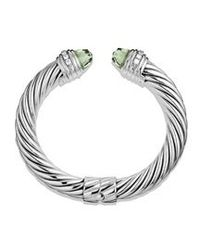 David Yurman | Metallic 10mm Prasiolite Silver Ice Bracelet | Lyst