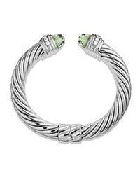 David Yurman - Metallic 10mm Prasiolite Silver Ice Bracelet - Lyst