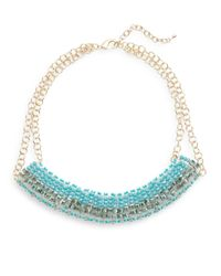 Saks Fifth Avenue | Blue Beaded Collar Statement Necklace | Lyst