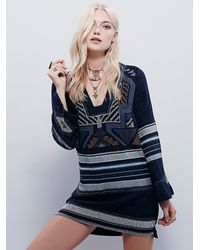 Free People | Black Sundown Mini Dress | Lyst