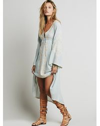 Free People - Blue Womens Dreamweaver Dress - Lyst