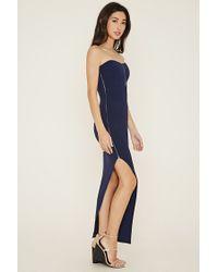 Forever 21 - Blue Asymmetrical Bodycon Dress - Lyst