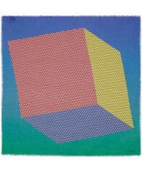 Pierre Hardy - Blue Cube Inkjet Cashmere And Silk-Blend Scarf - Lyst