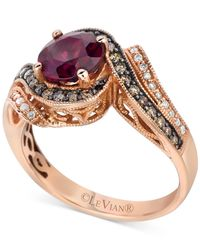 Le Vian | Pink Chocolatier Rhodolite Garnet (1-1/3 Ct. T.w.) And Diamond (1/3 Ct. T.w.) Ring In 14k Rose Gold | Lyst