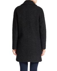 Betsey Johnson | Black Collared Boucle Jacket | Lyst
