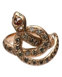 Ileana Makri | Metallic 'berus' Diamond Coiled Snake Ring | Lyst