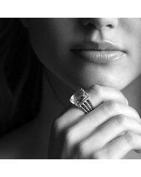 David Yurman | Yellow Wheaton Ring With Black Onyx And Diamonds | Lyst