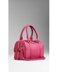 Burberry - Pink The Small Alchester In Grainy Leather - Lyst