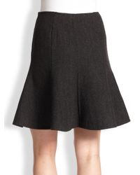 Ralph Lauren Black Label - Gray Maye Flare Skirt - Lyst