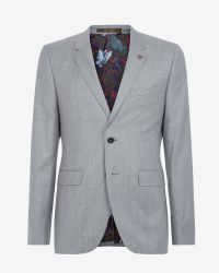 Ted Baker - Gray Deluxe Cashmere-blend Jacket for Men - Lyst