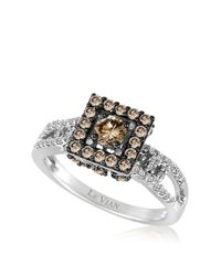 Le Vian | Metallic Vanilla And Chocolate Diamond 14k White Gold Ring | Lyst