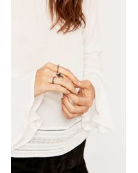 Urban Outfitters | Metallic Semi-precious Onyx Ring Multipack | Lyst