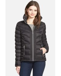 MICHAEL Michael Kors - Black Quilted Down-Filled Jacket - Lyst