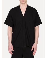 Jan Jan Van Essche - Black Kimono Collar Shirt for Men - Lyst