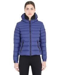 Ai Riders On The Storm - Blue Zip-up Nylon Micro Ripstop Down Jacket for Men - Lyst
