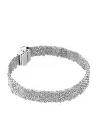 Carolina Bucci | Metallic White Gold Woven Bracelet | Lyst