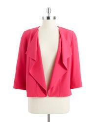 Anne Klein | Purple Draped Flyaway Suit Jacket | Lyst