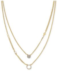 BCBGeneration | Metallic Gold-tone Pavé Disc Layer Pendant Necklace | Lyst
