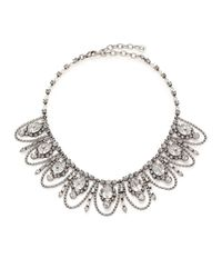 DANNIJO | Metallic Yves Crystal Draped Collar Necklace | Lyst