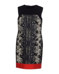Giambattista Valli | Red Snake-print Wool-blend Dress | Lyst