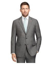 Brooks Brothers | Gray Own Make Black and White Tic 102 Suit for Men | Lyst
