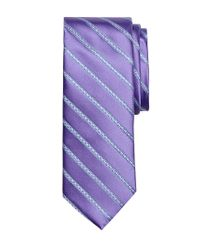 Brooks Brothers | Purple Satin Chain Stripe Tie for Men | Lyst