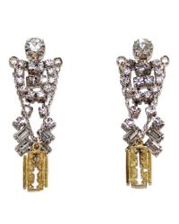 Tom Binns | Metallic Crystal Razor Blade Earrings | Lyst