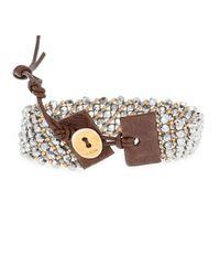 Chan Luu | Metallic Two-tone Sterling Silver Beaded Bracelet | Lyst