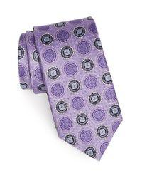 JZ Richards | Purple Medallion Silk Tie for Men | Lyst