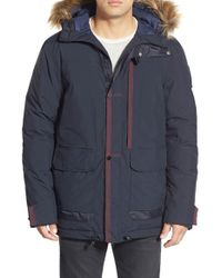 Helly Hansen | Blue 'novo' Waterproof Down Parka With Faux Fur Trim for Men | Lyst