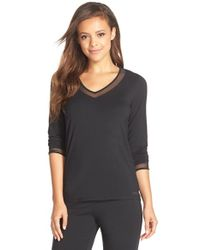 Calvin Klein | Black 'naked Touch' Pajama Top | Lyst