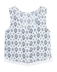 Mango - White Printed Top - Lyst