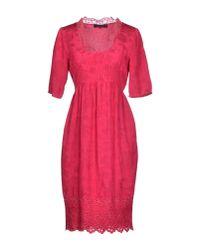 Twin Set - Purple Short Dress - Lyst