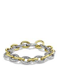 David Yurman - Metallic Oval Large Link Bracelet With Gold - Lyst