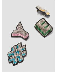 Macon & Lesquoy - Multicolor Yes Brooch Multi - Lyst