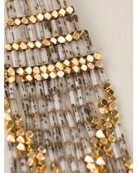 Gas Bijoux - Metallic Embellished Square Bead Earrings - Lyst